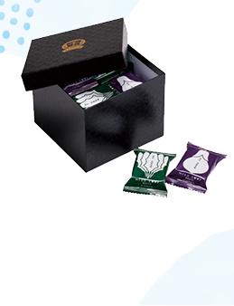 フリーズドライ贅沢みそ汁(なす10食・ほうれん草10食)化粧箱つづら箱風<黒>角